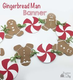 Gingerbread Man Banner for our Gingerbread House Decorating Party!