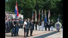 Soldiers of the 3d U.S. Infantry Regiment (The Old Guard), participate in an Armed Forces Full Honor Wreath Laying at the Tomb of the Unknown Soldier, May 29, 2015, in Arlington National Cemetery, Va. Laying the wreath were members of the Royal Family of the Netherlands His Majesty King Willem-Alexander and Her Majesty Queen Máxima, with Maj. Gen. Jeffrey S. Buchanan, Commanding General of the Military District of Washington, hosting the event. (U.S. Army Photo by Spc. Cody W. Torkelson)