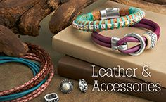 Licorice Leather and Round Leather for bracelets at GoodyBeads.com