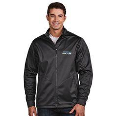 Seattle Seahawks Antigua Golf Full-Zip Jacket - Charcoal - $99.99