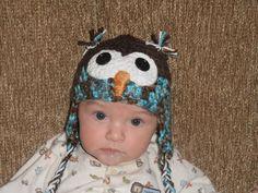 Crochet Owl Hat by ArtsByNoble on Etsy. , via Etsy.