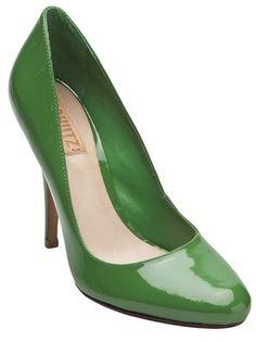 Cassie round toe pumps in green from Schutz.