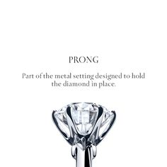 The iconic Tiffany® Setting design features a six-prong setting that makes the diamond seem to float above the band.
