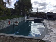 Here's a gorgeous 20,000-gallon pool/spa combo that we recycled last night.