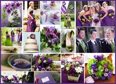 Green and Purple Wedding Inspiration Board