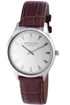 Johan Eric Men's JE9000-04-001 Helsingor Silver Dial Brown Leather Watch by Johan Eric -- Awesome products selected by Anna Churchill
