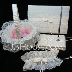 Wedding Ceremony Collection Set - $59.99 - Elegant Collection Set in Satin/Lace (100017996) http://jjshouse.com/Elegant-Collection-Set-In-Satin-Lace-100017996-g17996?pos=your_recent_history_2