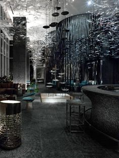 ♂ Commercial space Masculine & elegance interior design