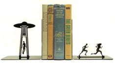 UFO Bookends by KnobCreekArts on Etsy