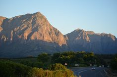 Late afternoon on top of Helshoogte Pass between Stellenbosch and the Paarl & Franschoek valley - opposite the entrance toTokara Wine Estate - Stellenbosch. Open Air Restaurant, Coastal Homes, Cape Town, Farms, South Africa, Entrance, African, Wine, Lifestyle