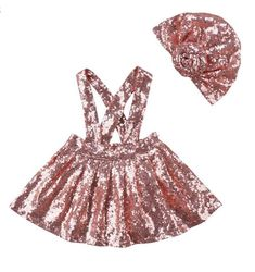 For the girl who shines as bright as the sun! Decoration: Pink sequins Silhouette: Pleated Pattern Type: Solid Dresses Length: Above Knee, Mini Fit: Fits true to size Baby Girl Fashion, Toddler Fashion, Pink Fashion, Toddler Outfits, Girl Outfits, Party Outfits, Dress Fashion, Overalls Outfit, Stylish Kids