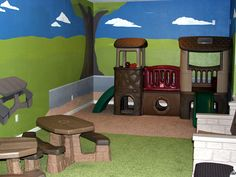 Fun playroom! Especially for children stuck indoors for the winter!