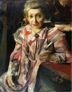 Portrait of Frau Hedwig Berend, 'Rosa Matinee' - Lovis Corinth (1858-1925)