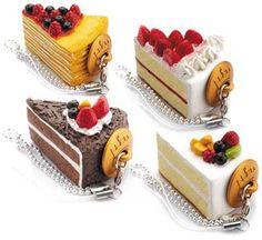 Gâteaux...mini food cake slices; USB's