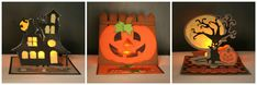 Want to shed some light on the occasion? Try these Halloween Light Up Easel Cards by Michelle!