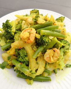 curry van boontjes, venkel en broccoli met scampi (512x640)