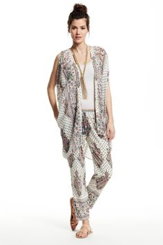 Enjoy 20% off when you donate to Calypso Cares. Braylee Paradis Silk Kimono Vest and matching pants.