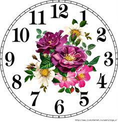 4964063_oxIGBhX_Ob4 (677x700, 329Kb) Cute Teddy Bear Pics, Teddy Bear Pictures, Clock Art, Diy Clock, Recycled Cd Crafts, Clock Face Printable, Clock Flower, Unusual Clocks, Circle Labels