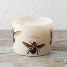 Lemongrass & Geranium Insect Repellant Candle in Outdoor Living ENTERTAINING Sun + Insect Protection at Terrain