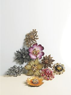 Crystal Brooches