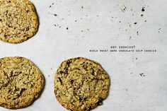 whole wheat dark chocolate chip cookies