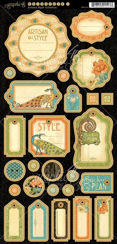 Chipboard 1 from Artisan Style, a new collection from Graphic 45. Look for it in stores in mid-February! #graphic45 #sneakpeeks Graphic 45, Vintage Family, Pocket Letter, Images Victoriennes, French Country Collections, Steampunk, Etiquette Vintage, Images Vintage, Safari Adventure