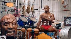 Comedy: Actor Terry Crews Makes Music with His Muscles