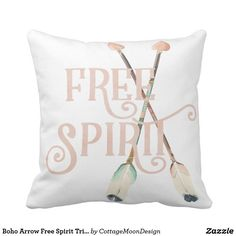 Boho Arrow Free Spirit Tribal Nursery Throw Pillow