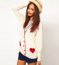 V Neckline Long Sleeves Cardigan