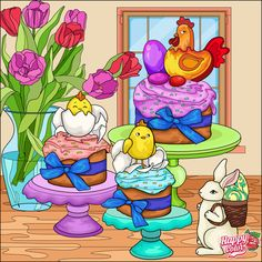 Happy Colors, 2 Colours, Past, Beautiful Pictures, My Arts, Spring, Coloring Books, Coloring Pages, Easter Stuff