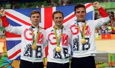 Callum Skinner, Jason Kenny and Philip Hindes mens' team sprint gold