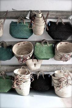 "l-echappee-belle: "" margadirube: "" a-girl-from-the-north-country "" panier en osier "" Sisal, Jute, Boho Home, Basket Bag, Basket Weaving, Woven Baskets, Woven Bags, Decoration, Wicker"