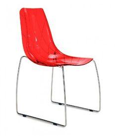 Lynea-t - Jídelní židle (červená transparentní) | OKAY.cz