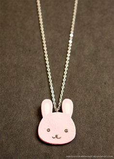 DIY Cute Bunny Charm Tutorial with FREE Template