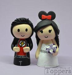 Wedding Cake Topper Superhero Groom & Mouse Ear Bride with Superhero Cake Toppers, Disney Cake Toppers, Wedding Bride, Our Wedding, Personalized Wedding Cake Toppers, Cake Table, Mouse Ears, Handmade Items, Handmade Gifts