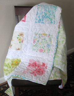 Quilt Story: Shabby redo vintage pillowcase tutorial..