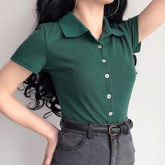 Whether you are working from home due to the strange world we are engulfed in or working remotely is the norm for you, these work from home outfits wil Polo Shirt Outfit Women's, Collared Shirt Outfits, Short Sleeve Collared Shirts, Polo Shirt Women, Collar Shirts, T Shirt With Collar, Polo T Shirts, Collars, Mode Outfits
