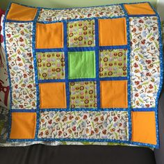 A small quilt that was started by my Mum, who didn't want continue it and I finished it!