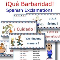 Que Barbaridad -- Spanish exclamations classroom signs & translations poster -- now available without a membership -- $2 on TpT!