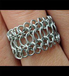 Chainmail Ring Large Centre by Pimda.deviantart.com on @deviantART