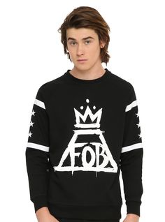 Fall Out Boy Crown Logo Hockey Crewneck Pullover | Hot Topic