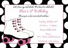 free roller skating party invitation template  party ideas, party invitations
