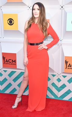 Blair Fowler from ACM Awards 2016 Red Carpet Arrivals  Before racing to her seat, The Amazing Race contestant can't help but look radiant in red.