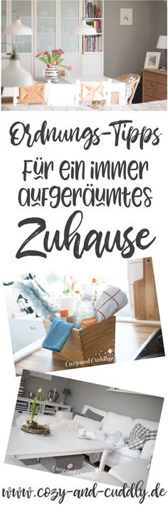 Besser aufgeräumt: 10 Ordnungstipps – damit Dein Zuhause immer ordentlich ist With my ten order tips, your home is always perfectly tidied up. Simple tricks and organizational tips for all corners of your apartment. House Cleaning Tips, Cleaning Hacks, Room Interior, Interior Design Living Room, Tidy Up, Home Hacks, Diy Organization, Organisation Hacks, Clean Up