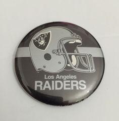 "Brand New NFL Vintage Los Angeles Raiders Nation Pin 2""X2"" RARE HTF please retweet"