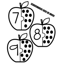 Basel numbers learning game ready for printing :: fingerprint … - Kinderspiele Fall Preschool, Preschool Classroom, Preschool Worksheets, Kindergarten Math, Toddler Learning Activities, Learning Games, Book Activities, Preschool Activities, Learning Numbers