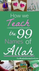 Teach the 99 Names of Allah Muslim Homeschool