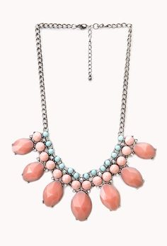 Heirloom Faux Gemstone Bib Necklace | FOREVER21 Cluster of cuteness #Accessories #Necklace #Bib- love the color combo