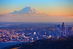 Seattle: Pacific Northwest....Best view EVER... Had a friend who just moved here and it is so tempting. I think I am in love <3