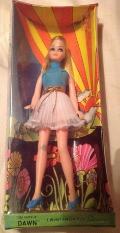 This is a vintage NRFB Topper Dawn Doll. My sisters and I had the Dawn dolls, they were better than Barbies Vintage Barbie, Vintage Dolls, Retro Vintage, Childhood Toys, Childhood Memories, Dawn Dolls, Barbie Friends, Retro Toys